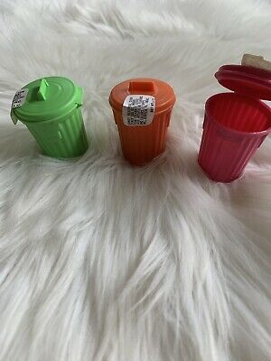vintage 1970's Topps GARBAGE CAN-DY CANDY CONTAINER Green Orange Pink new/sealed