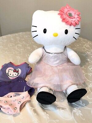 Build A Bear Hello Kitty In BAB Shirt, Dress, Skirt, Sandals Non-smoker