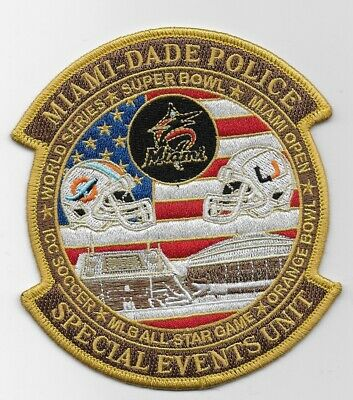 Miami Dade Police Special Events patch State of Florida FL