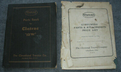 Pair Cleveland Tractor Company Parts Books - 1932 & 1942 Cletrac Crawlers