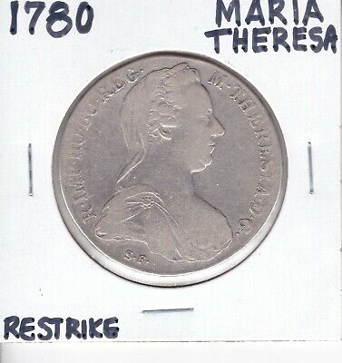 1780-1960 Maria Theresa Austria Germany Queen Silver Thaler Large Coin