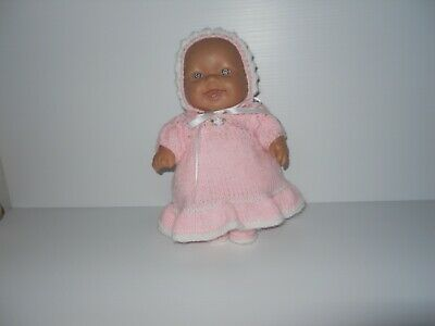 "10"" ( 25 cm ) Berenguer Doll in Pink Knitted Dress set."