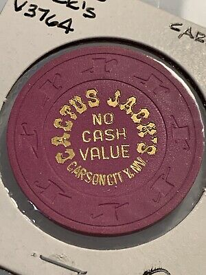 CACTUS JACK'S  ROULETTE NCV Casino Chips Carson City Nevada 3.99 Shipping