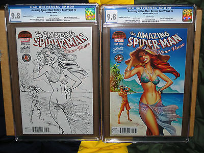 ✨✨ AMAZING SPIDERMAN RENEW YOUR VOWS 5 CAMPBELL SKETCH VARIANT CGC 9.8 SET 2 1st