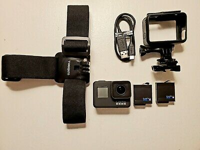 Gopro hero 7 black 12MP 4K action camera with extras