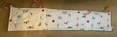 Baby Cot Bumper Padded Protector Boys Reversible - 100% Cotton (John Lewis)