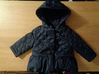 Jasper Conran Girls Navy Coat Jacket - 3-6 Months