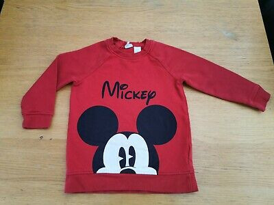 H&M Mickey Mouse Red Jumper 18 - 24 Months