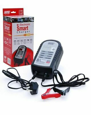 Maypole Mp7428 8A 12V Car Bike Caravan Van Electronic Smart Battery Charger