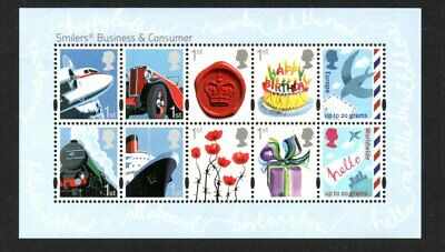 Great Britain 2010 Smilers Business Miniature Sheet Superb Um  Sg Ms3024