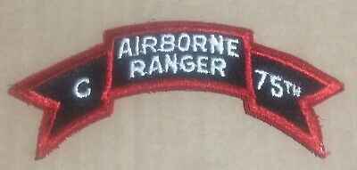 Japanese made C Co 75th Airborne Ranger Vietnam War Scroll, 1st Field Force