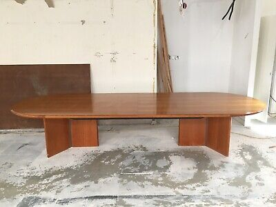 boardroom table Vanished Cherry Bevelled Edge