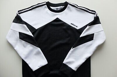 ADIDAS ORIGINALS PALMESTON crew sweatshirt top S Black White