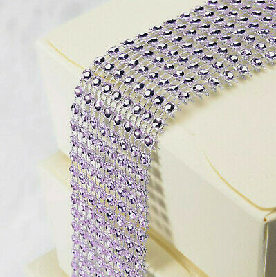 Lilac Purple Diamante Crafting Strip 8 Rows X 1.5M Wedding Party Craft Gift Wrap