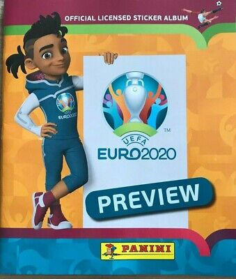 Panini UEFA Euro 2020 Preview. 528 stickers version Empty Album