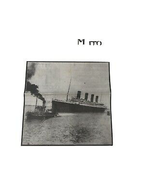 OLD VINTAGE NEWSPAPER 1910S daily mirror repro 16 APRIL 1912 TITANIC SINKING