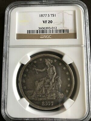 1877 S U.S. Trade Silver Dollar $ NGC Certified VF 20 NGC-012
