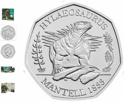 Hylaeosaurus 2020 Brilliant Uncirculated 50p UK Coin Royal Mint #3 of Series