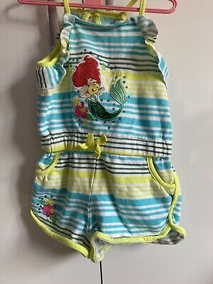 Disney Ariel Towelling Playsuit Age 3