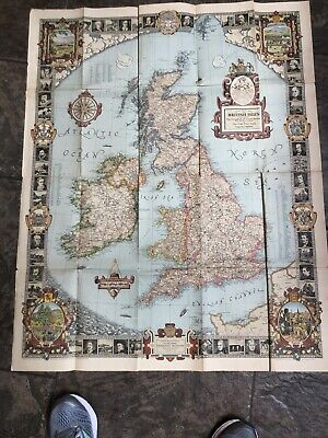 The Modern Pilgrim's Map of The British Isles - National Geographic 1937
