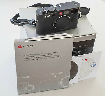 Leica M8 10.3MP Digital Camera - Black Body Excellent with Box, CDs and Docs