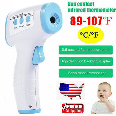 Non-Contact Infrared Digital Forehead Thermometer Baby Adult Temperature Gun US