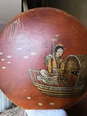 Vintage Indian/Chinese Hand Painted Ornament/Hand Drum?