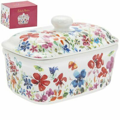 Butterfly Meadow China Butter Dish