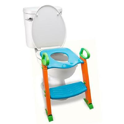 3 in 1 Trainer Potty Toilet Seat with Step Stool Ladder for Kids NonSlip Surface