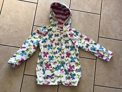 Hatley Waterproof Girls Summer Coat Age 6 Colourful Butterflies Very Good Cond