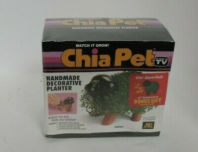 Vintage Chia Pet Puppy with Seed Pack, Decorative Pottery Planter, Unopened
