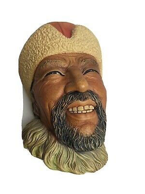 MINT CONDITION!!! Vintage 1966 Bossons HIMALAYAN Chalk Ware Hand Painted Head
