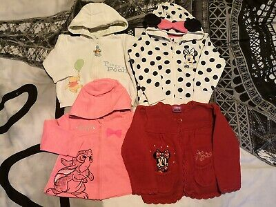 Disney Minnie Mouse Bambi Winnie The Pooh Baby Girl knitted cardigan 9-12