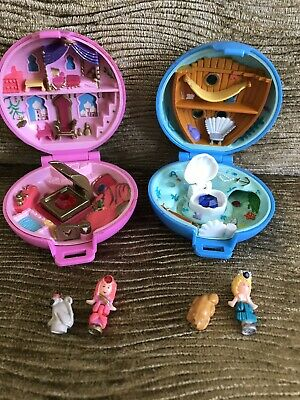 Vintage Polly Pocket Jeweled Sea And Jeweled Palace Both Complete