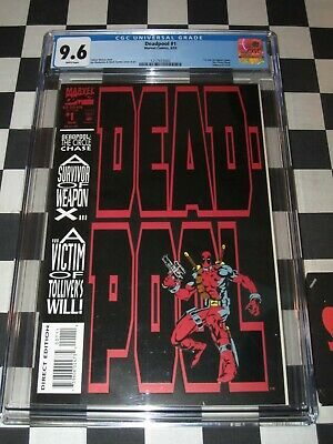 Marvel Comics Deadpool #1 8/1993 1St Solo Comic Cgc Graded 9.6