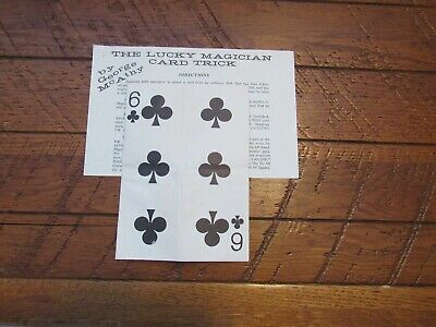 Vintage George McAthy Lucky Magician Card Trick - Close Up - Stage Magic RARE