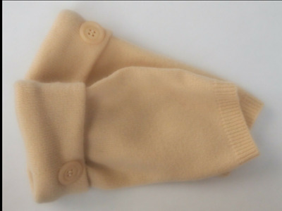 Fingerless Gloves Yellow Women's Cashmere Merino Wool One Size Fits Most S M L /