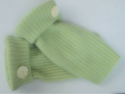Fingerless Gloves Green Light  Women's 100% Cashmere One Size Fits Most S M L