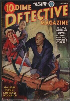 Dime Detective 1937 October. A Race Williams story by Carroll John Daly.