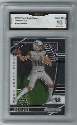 2020 Panini Prizm Draft Picks Jordan Love RC GMA Graded 10