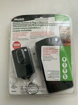Westek Wireless Remote Controlled outlet & Plug-in Receiver Outdoor Use