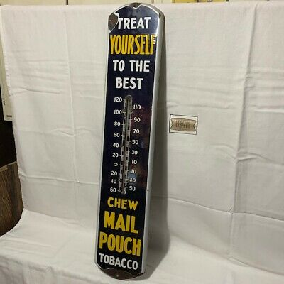 Mail Pouch Thermometer porcelain