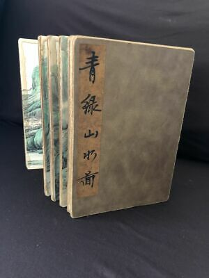 Very Fine Old Thick Chinese Hand Painted of Beautiful Landscape Paper Book
