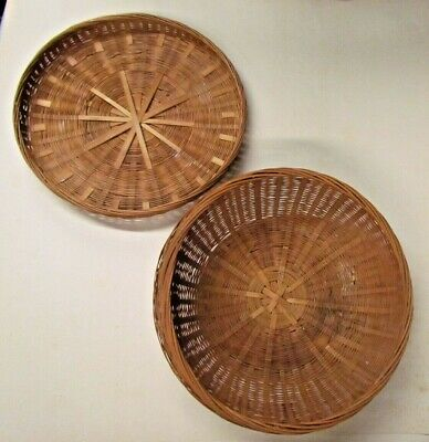 Vintage Round Basket with Lid Sweetgrass? Wicker