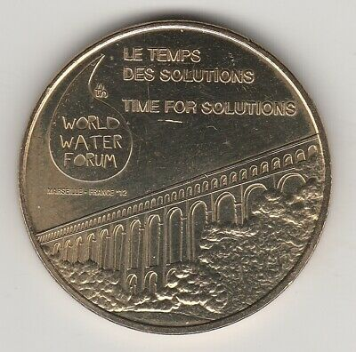 A 2012 Token Medaille Monnaie De Paris-- 13 000 N°10 Marseille 6Th World Water
