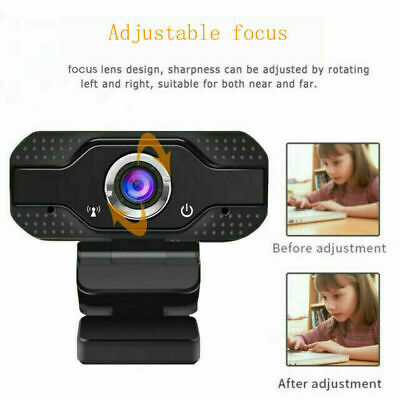 Full HD 1080P Webcam With Microphone USB For PC Desktop Laptop focus Clip-On UK