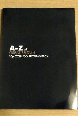 2018, Full Set 10p Ten Pence A-Z of Great Britain Coins, In Collecting Pack