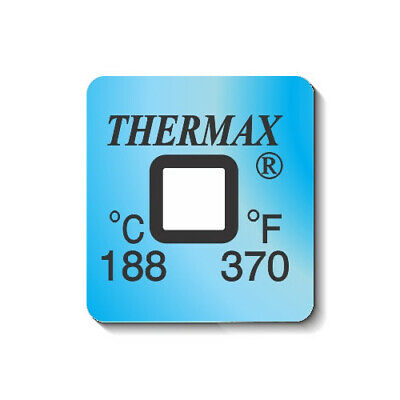 10 Pack - Thermax Thermochromic Irreversible Label 1 Level 188ºC