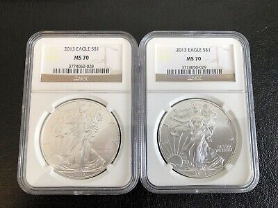 2013 MS 70 1oz American Silver Eagle .999 NGC