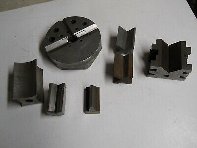 Starrett V-Blocks & Gage Blocks   7 pieces   used